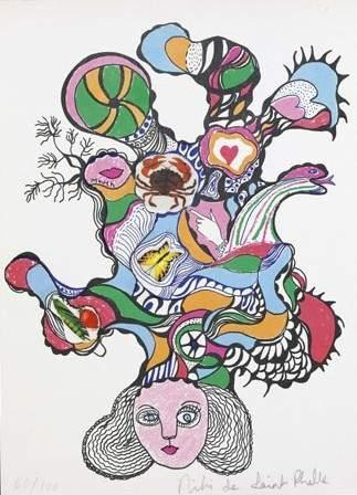 Niki de Saint Phalle-Tete de meduse-