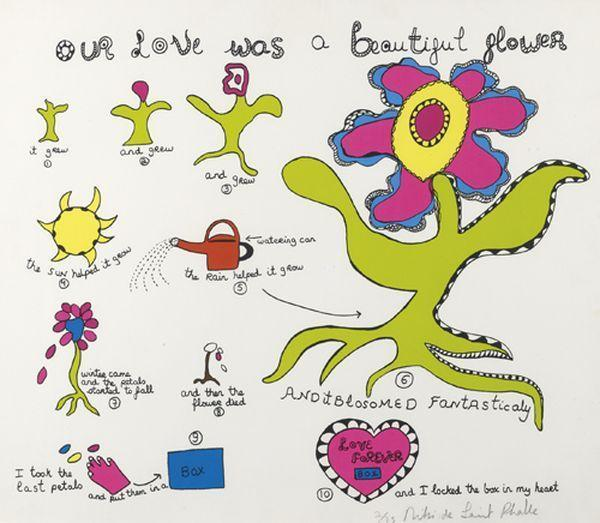 Niki de Saint Phalle-Our Love was a beautiful Flower-1970