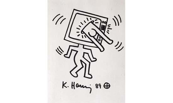 Keith Haring-Keith Haring - Homme tele-1989