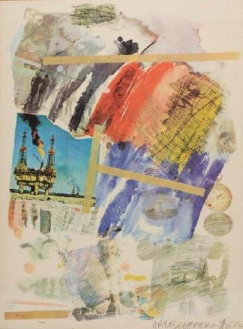 Robert Rauschenberg-Robert Rauschenberg - From Horchow, planche tiree du portfolio Eponyme-1972