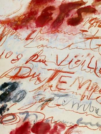 Cy Twombly-Affiche Yvon Lambert-1986