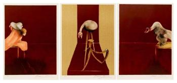 Francis Bacon-Deuxieme version du triptyque 1944, deuxieme version d'apres-1989
