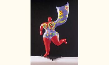 Niki de Saint Phalle-L'ange luminaire, (Red Nana Vase)-1993