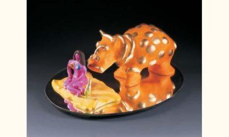 Niki de Saint Phalle-Hippopotame et Marina, (Dejeuner sur lherbe), (Portrait de Marina)-1993