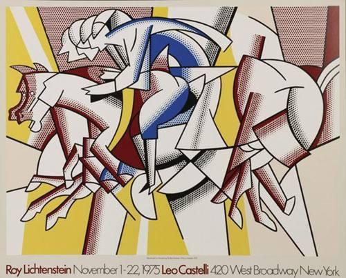 Roy Lichtenstein-Red Horseman Poster Leo Castelli Gallery New York-1975