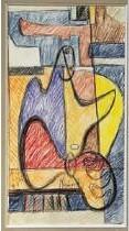 Le Corbusier-Femme a la bougie-1947