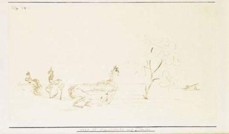 Paul Klee-Landschaft Mit Pferden-1924