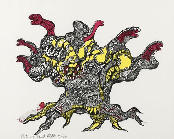 Niki de Saint Phalle-L'arbre, (Arbre aux serpents)-1970