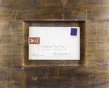 Yves Klein-Enveloppe et timbre bleu-1959