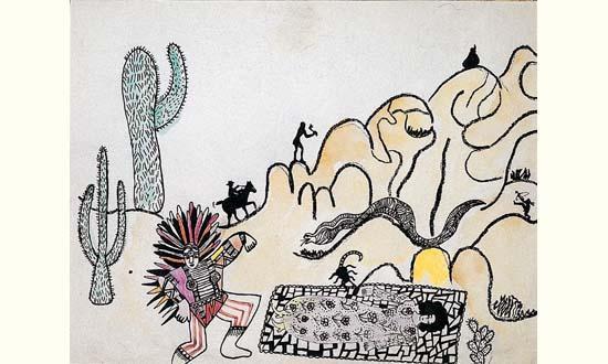 Niki de Saint Phalle-L'indien-