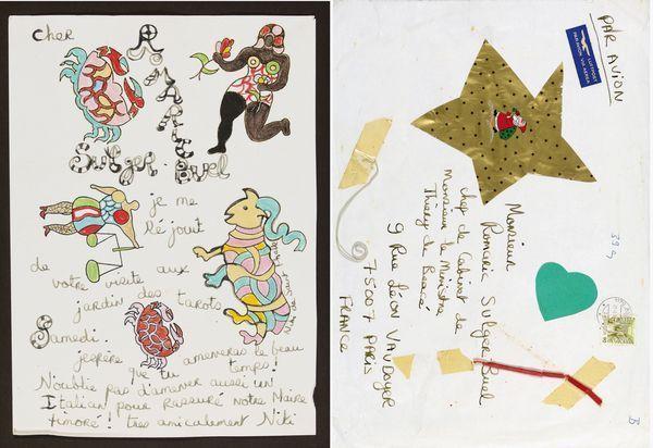Niki de Saint Phalle-Lettre et enveloppe-1991