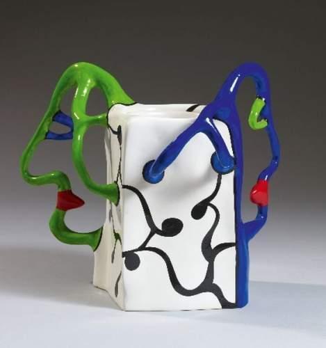 Niki de Saint Phalle-Vase aux deux profils, (Vase a deux tetes)-1989