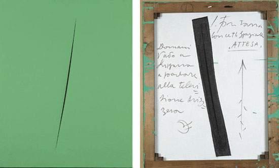 Lucio Fontana-Concetto spaziale, Attesa-1960