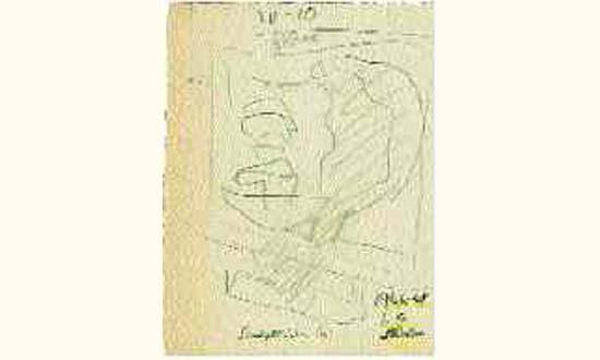 Le Corbusier-Sculpture sur bois-1946