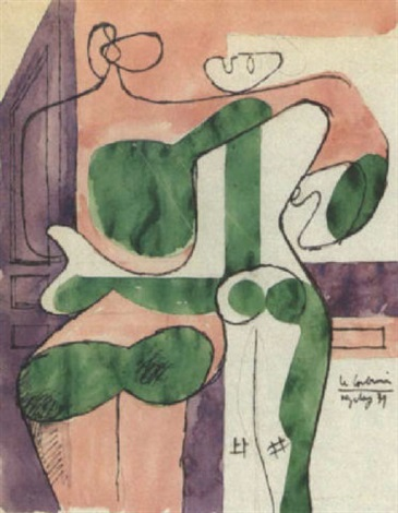 Le Corbusier-Couple enlace-1939