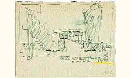 Le Corbusier-Toiture de l'Unite d'habitation a Marseille-1947