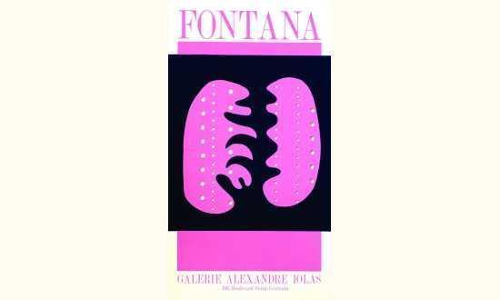 Lucio Fontana-Fontana - Galerie Alexandre Iolas (4 variations de couleurs-
