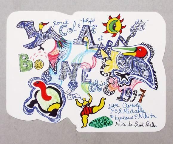 Niki de Saint Phalle-Carte de voeux-1997