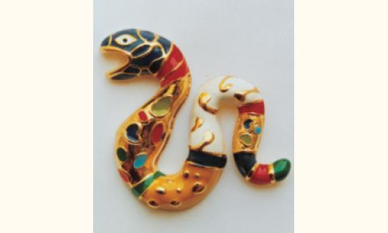 Niki de Saint Phalle-Broche Serpent-1998