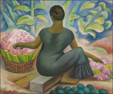 Diego Rivera-Vendedora de flores en Xochimilco-1929