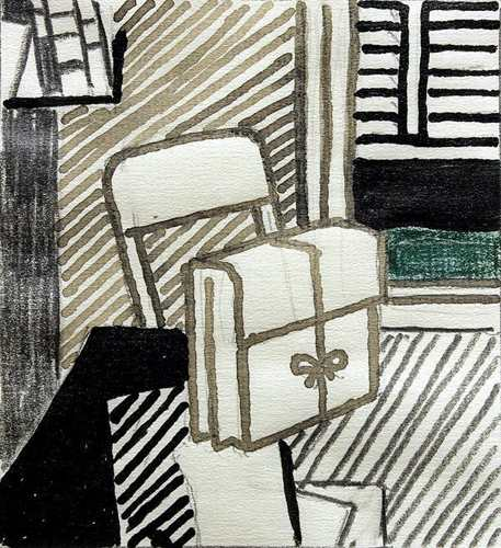 Roy Lichtenstein-Study for Still Life with Dossier-1976