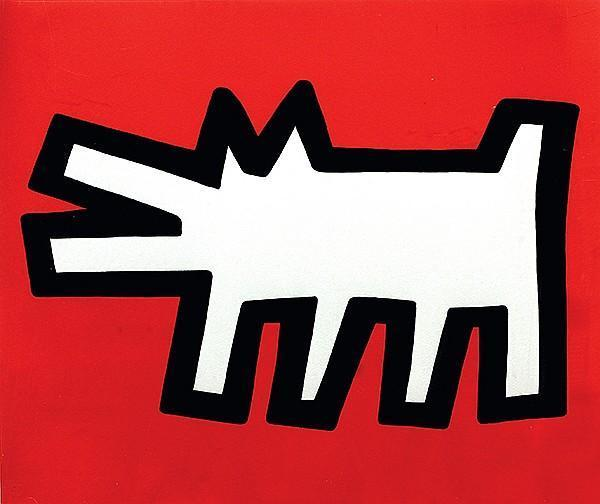 Keith Haring-Keith Haring - Icons #3: Barking Dog-1990