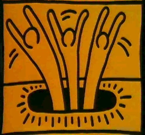 Keith Haring-Keith Haring - Trois figures-1983