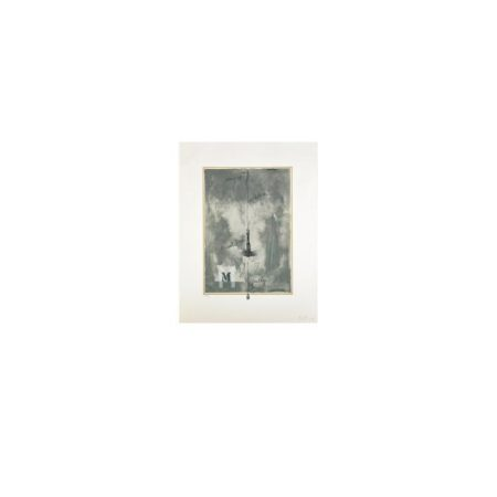 Jasper Johns-M (ULAE 113)-1972