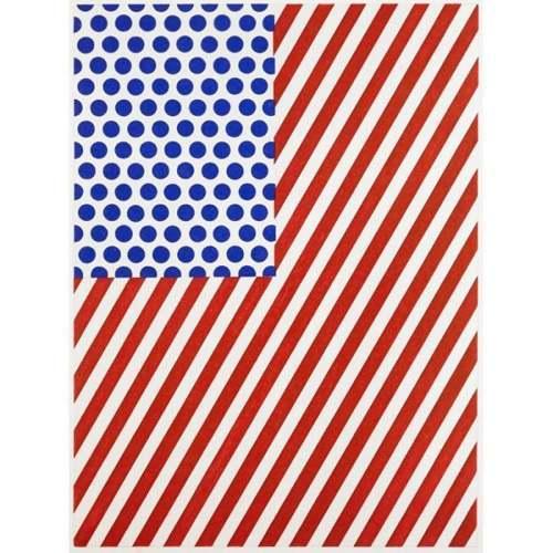 Roy Lichtenstein-Amerique, from La Nouvelle Chute de lAmerique-1992