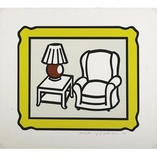 Roy Lichtenstein-Red Lamp-1992