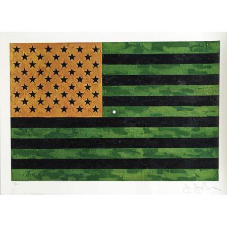 Jasper Johns-(i) Flag (Moratorium); (ii) Merce Cunningham and Dance Company Target-1969