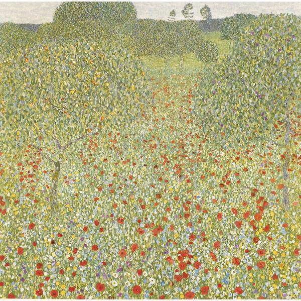 Gustav Klimt-Poppy Field (No. 5)-