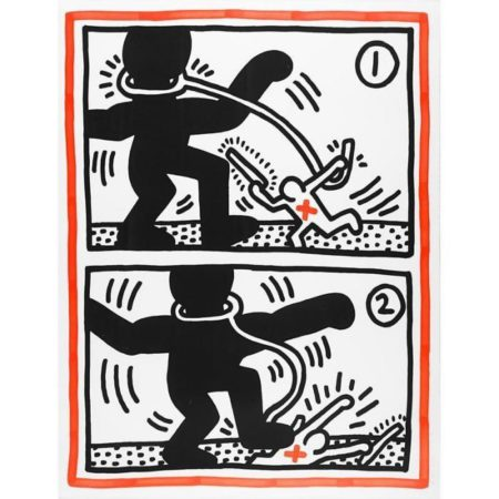 Keith Haring-Keith Haring - Untitled (Free South Africa #3)-1985