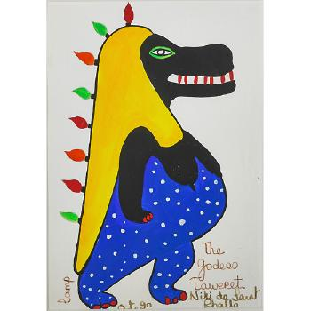 Niki de Saint Phalle-The Godess Taweret-1990