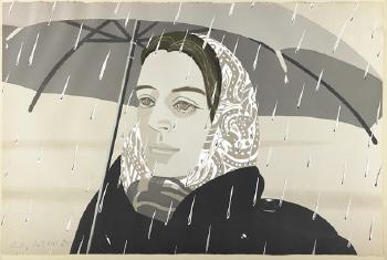 Alex Katz-Gray Umbrella (Maravell 122)-1979