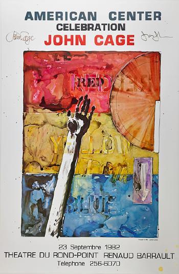Jasper Johns-American Center Celebration-John Cage-1982