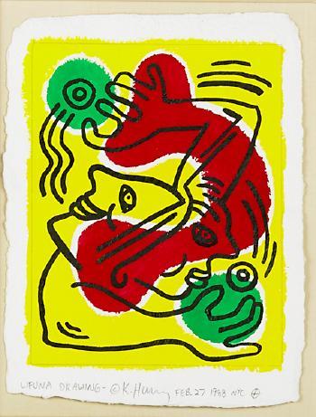 Keith Haring-Keith Haring - Untitled (WFUNA)-1988