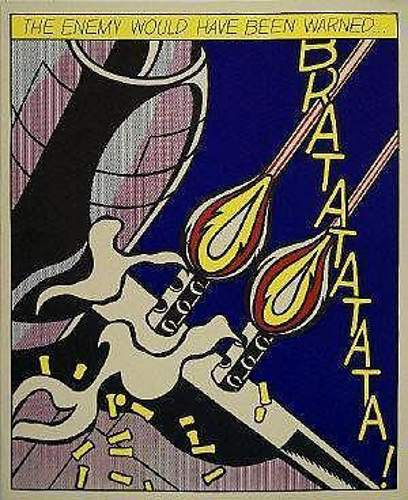 Roy Lichtenstein-The Enemy Would Have Been Warned; As I opened Fire, I Knew Why Tex Hadn't Buzzed Me... If He Had; Sweet Dreams Baby!-1964