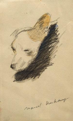 Marcel Duchamp-Head of a Dog-1905