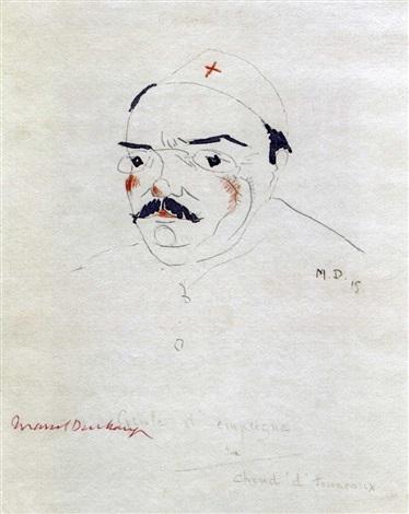 Marcel Duchamp-Gueule d'empeigne sur chand d'tonneaux-1915