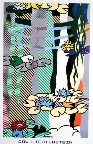 Roy Lichtenstein-Waterlilies with Japanese Bridge-