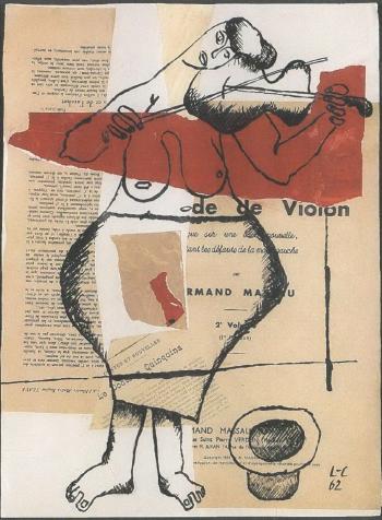 Le Corbusier-Femme avec viollon-1962