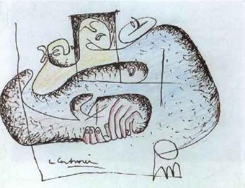 Le Corbusier-Trois femmes attablees-1945