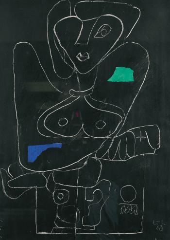 Le Corbusier-Femme de face aux seins nus-1963