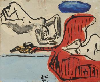 Le Corbusier-Nus et oiseau-1954