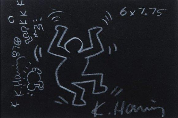 Keith Haring-Keith Haring - Subway drawing-1987