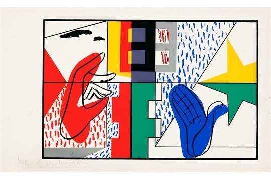 Le Corbusier-Ohne Titel (Hande)-1956