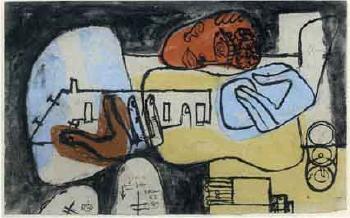 Le Corbusier-Etude preparatoire pour le tableau Arbalete Londres I-1953