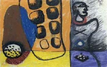 Le Corbusier-Etude pour Auteuil Simla-1951