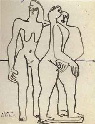 Le Corbusier-Trois personnages-1940